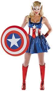 Halloween Captain America womens
