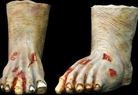 zombie feet prop
