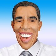 obama mask and clothing