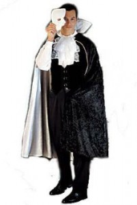 Traditional Cape with black on the outside and ivory on the inside