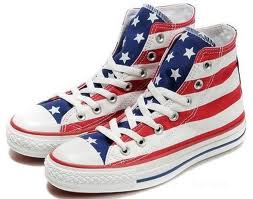 red white blue shoes