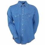 blue cowboy shirt