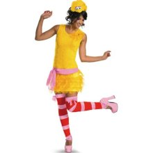 woman big bird costume