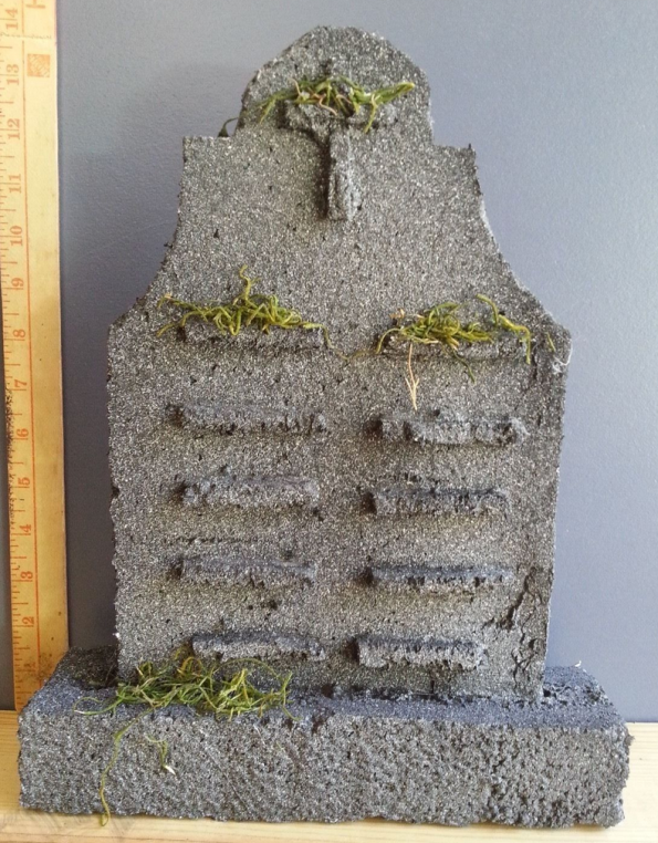 mossy tombstone
